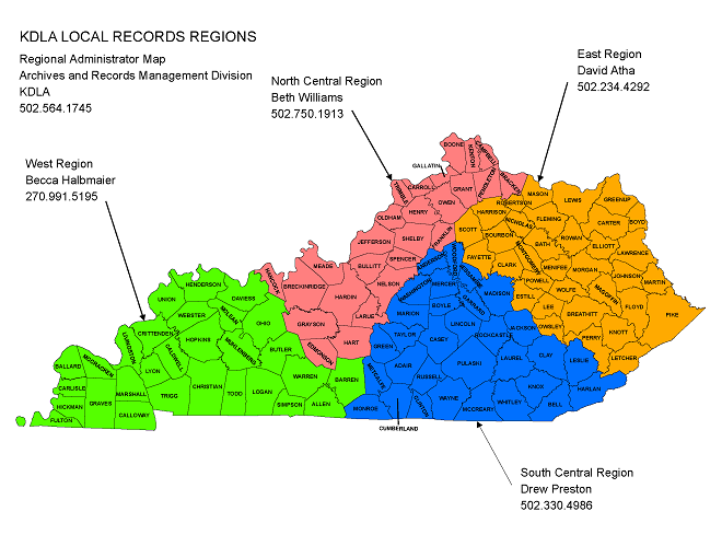 Local Records Regional Administrators